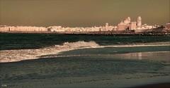 Cadiz [Gades] desde la Playa de la Victoria