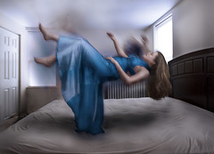 (ohheycass) Tags: blue woman selfportrait photoshop self hair bedroom dress review selfportraits levitation falling dreams cassondrawood cassondrawoodphotography