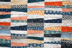 Wonky Stipes Baby Quilt (QuiltsByEmily) Tags: tutorial quiltsbyemily architexturesfabric botanicsfabric