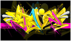 Manisk (Hoper 1) Tags: wallpaper graffiti design 3d artist drawing digitalart adobe illustrate hoper digitalsketch digitalgraffiti graffiti3d vectorgraffiti photoshopcs6 vectorpiece