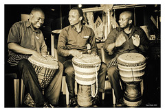 Jamming Cooks (Sydney Image Factory) Tags: bw music monochrome canon drums dubai african uae cook jamming tamron