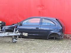 Opel Corsa, Wreck (v8dub) Tags: auto car germany deutschland junk automobile decay rusty automotive voiture german wreck scrap allemagne bremerhaven opel corsa urbex schrott wrack niedersachsen wagen pkw pave worldcars