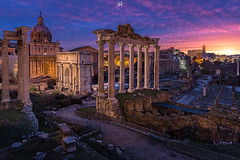 Crack of dawn (Rilind Hoxha) Tags: travel italy rome sunrise ancient roman colosseum traveling travelphotography romanfroum