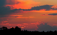 SUMMER - SUNSET (A Picture is Worth ---) Tags: sunset nature silhouette clouds skyandclouds summersky summersunset thesettingsun summerglow dreamsofsummer glowinthesky thesummersky themeltingsun