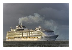 Harmony of the Seas (frattonparker) Tags: sunlight raw smoke solent cruiseship tamron28300mm nikond600 niksoftware colorefexpro4 btonner frattonparker adoberaw9