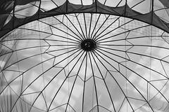 The Inside of a Parachute (Mondmann) Tags: bw museum asia pattern military pb korea exhibit seoul southkorea chute rok paratroopers parachute eastasia paratrooper republicofkorea warmemorialmuseum mondmann canonpowershotg7x