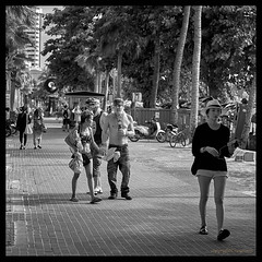 Thailand Tourist ! (FimRay) Tags: street shirtless people blackandwhite bw man men asian thailand seasia drinking scene monotone tourist tourists alcohol scenes pattaya