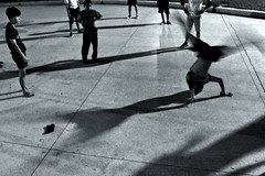 2 (ssedov) Tags: blackandwhite bw music cemetery youth night thailand shadows bangkok breakdance krungthep