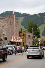 the teton (brianficker) Tags: street urban car jackson skiresort rockymountains wyoming mountainwesttrip07