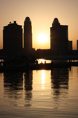 Sunset in the Pearl (RadioKate) Tags: sunset sun thepearl doha qatar mydohalife
