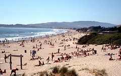Busy day at Stinson Beach....in 1976 (birdgal5) Tags: california marincounty stinsonbeach 35mmslide ggnra 55mmf35micropc nikkormatel june1976 stinsonsb stinsonstatebeach busydayatstinsonbeach