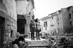 Two little Italian girls stand amidst the ruins of the village of Gessopalena following a battle between German and Allied forces. The town was situated near the front lines of the Italian Campaign and liberated by the Allies. Gessopalena, Chieti, Abruzzo (Histolines) Tags: girls two italy history lines by was town stand italian ruins december village little near battle front retro german timeline 16 campaign forces 1943 between following abruzzo amidst chieti allies the liberated situated allied vinatage gessopalena historyporn histolines 1159x770 httpifttt1thcpwt