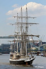 STS Lord Nelson, on the River Thames in London, Thursday, May 26, 2016 (olliepix) Tags: city london thames river sailing ship 26 jubilee may nelson lord trust tall thursday sts 2016