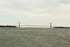 Staten Island Ferry (GPhace) Tags: nyc newyorkcity canon spring cityscape cloudy 70300mm statenislandferry verrazanonarrowsbridge thenarrows newyorkharbor portofnewyorknewjersey 5dmiii