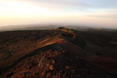 "Silvestri Craters At Dawn ""Explored"" (Derbyshire Harrier) Tags: mist sunrise dawn lava ngc explore sicily geology volcanic catania cindercones lavafield 2016 mountetna activevolcano explored tephra rifugiosapienza silvestricraters"