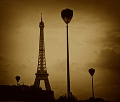 Paris (rabataller) Tags: paris france lamp sepia composition eiffeltower eiffel lampara francia rabataller nikond800