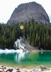 Mirror Lake (myphotothrowaway) Tags: mountain lake mountains hiking lakes glacier louise alberta rivers backcountry banff canmore