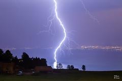Impact entre Evian et Lausanne (MarKus Fotos) Tags: switzerland suisse ngc lac lausanne lman orage clair foudre