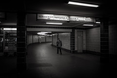Ausgang Tempelhofer Feld (Rubina V.) Tags: street people berlin station streetphotography bahnhof menschen ubahn monochrom stdte strassen strasen