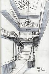 Helios Staircase (Namtra) Tags: pencil germany deutschland perspective cologne kln staircase marker bleistift perspektive helios treppenhaus urbansketch urbansketchers arnohartmann