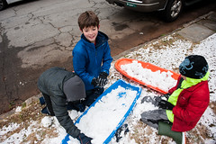 making ammo (veader) Tags: snow 2470mm whitman year11 levi notmine friend neighbor henry sled