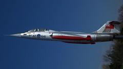 Lockheed CF-104D Starfighter at Canadian Warplane Heritage (J.Com) Tags: ontario canada heritage museum airport aircraft aviation air hamilton canadian caf warplane rcaf f104 starfighter cf104 12641 loockheed 104641 210ac 876c