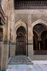 Fes El Bali Morocco-Medersa Bou Inania.1-2016 (Julia Kostecka) Tags: morocco fes madrasa medersa feselbali medersaelattarine