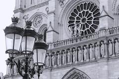 Notre-Dame de Paris (Nabila M.) Tags: blackandwhite paris france architecture french peace photographer cathedral noiretblanc notredame lantern canoneos bnw mycity amateurphotographer frenchphotographer canon1200d