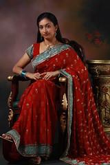 Royal Majesty - 2 (Shridhar D) Tags: red portrait studio photography town model royal ganesh pixel saree sindhu props majesty shyam bangles shridhar grandeur devalla