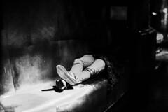 The sleeper of the quay Branly (Photo-LB) Tags: paris france monochrome nikon noiretblanc muse streetphoto capitale quaideseine quaibranly nikond800 nikon58afs