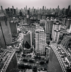 (Rob-Shanghai) Tags: shanghai china puxi hotel pullman pano mono details towers