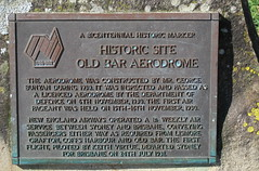 Old Bar Aerodrome site 1930 (spelio) Tags: 2015 nsw travel nov plaque sign notice historic