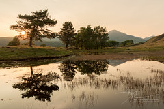 Last Hurrah (daveadam84) Tags: trees sunset lake canon reflections landscape golden hall lakedistrict kelly tarn hdr 650d 1585 torver kellyhall
