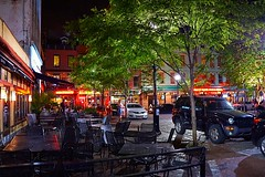 Market Square Night Life (#KPbIM) Tags: trip travel people cars night square lights spring cafe pittsburgh jeep chairs market pennsylvania may tables 2016