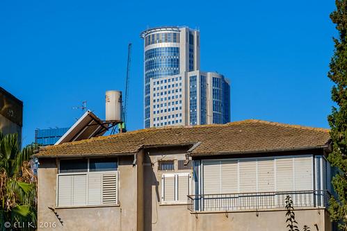 Rokach Street and Moshe Aviv Tower, Ramat Gan