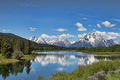 Oxbow (Travels with Kathleen) Tags: sky mountains water clouds reflections landscape outdoor lakes scenic wyoming grandtetons jacksonhole oxbow grandtetonnationalpark