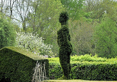 Nude! - Eve in the Garden of Eden (Dreamsmitten) Tags: eve garden nude model topiary branches gardenofeden greenery upright hedges shapely
