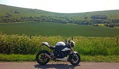 Triumph Speed Triple (urbannivag) Tags: summer england sunshine coast seaside brighton triumph motorcycle speedtriple
