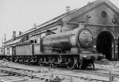 Work Over (4486Merlin) Tags: england bw europe unitedkingdom transport steam northeast railways gbr tyneandwear 52f 65874 southblyth nerclassj27
