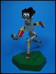 Aww, C'mon Stop! (Karf Oohlu) Tags: lego running figure mecha droid bot moc