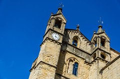 Perspective (DingoShoes - life's a dream) Tags: blue sky building church architecture facade spain cathedral pov memories perspective sansebastian travelphotography ilovespain afsnikkor18105mm13556ged nikond7000 september2015