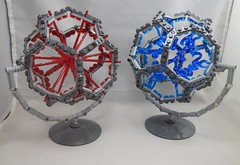 Side by side (donuts_ftw) Tags: geometric ball lego sphere scifi dodecahedron moc