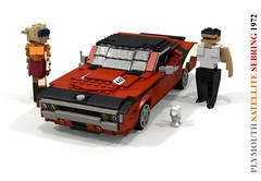 Plymouth Satellite Sebring - 1972 (lego911) Tags: plymouth satellite sebring hardtop coupe gtx roadrunner 440 cid v8 1972 1970s classic auto car moc model miniland lego lego911 ldd render cad povray usa america muscle musclecar chrysler corporation lugnuts challenge 104 thescienceofitall science