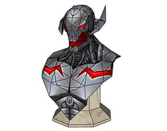 Marvel Comics - Ultron Bust Ver.2 Free Papercraft Download (PapercraftSquare) Tags: bust marvelcomics ultron