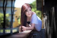 IMG_8238 (m194007) Tags: light sunset sun girl sunshine wall necklace bokeh longhair taiwan