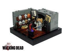 Michonne - Part 4 (Disco86) Tags: walking dead lego head zombie interior governor kitbash moc michonne apoca