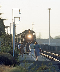 SP Train 129 at Palo Alto, CA on September 9, 1977 (railfan 44) Tags: southernpacific