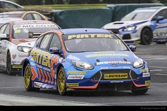 In Focus (Well, nearly) (Mike Palmer Fauxtography. Mainly OFF) Tags: british touring car championship btcc croft circuit andrewjordan joshcook ford focus pirtek mg dunlop racing motorsport canon eos 7d ef300mm f28l is usm michaelpalmer hairpin track race motorbase performance
