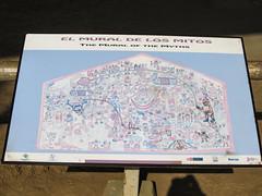 """La Huaca de la Luna: le Mur des Mythes avec un chien péruvien (sans pelage), des sacrifices humains (corps sans tête), des animaux, des barques en roseaux, etc. <a style=""""margin-left:10px; font-size:0.8em;"""" href=""""http://www.flickr.com/photos/127723101@N04/27840303532/"""" target=""""_blank"""">@flickr</a>"""