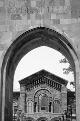 Mother See of Holy Echmiadzin - Armenia (Agnieszka Eile) Tags: caucasus southcaucasus armenia echmiadzin cathedral church architecture building arch orthodox religion christianity unesco blackandwhite bw monochrome